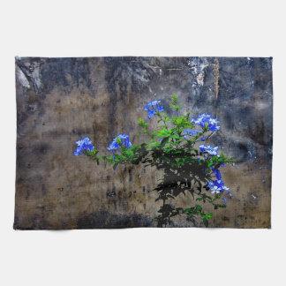 Blue Plumbago Tea Towel