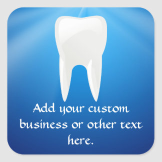 Blue Plunge Dental / Dentist Office Custom Sticker