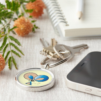 Blue Pocket Mouse Keychain