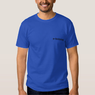 "Blue pod ""e-training"" embroidered HQ Polo shirt"