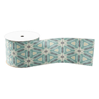 Blue Poinsettia Ribbon Grosgrain Ribbon