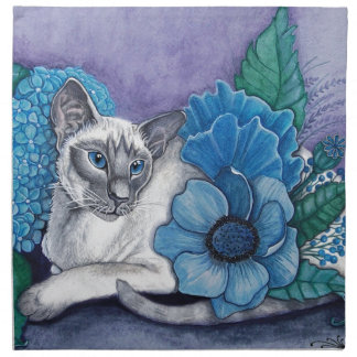 Blue Point Siamese Cat Napkin