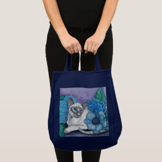 Blue Point Siamese Cat Tote Bag