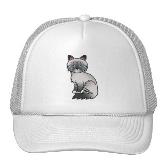 Blue Point Tabby Birman / Ragdoll Cat Cap