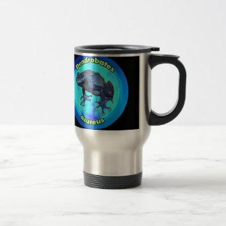 Blue poison dart frog. travel mug