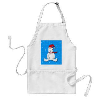 Blue polar bear standard apron