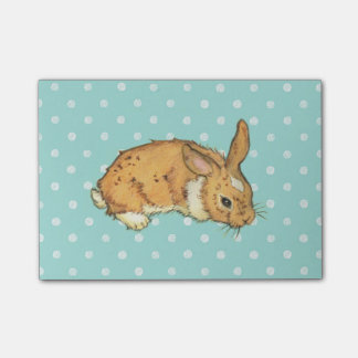 Blue Polka Dot Bunny Post-it® Notes