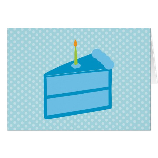 Blue Polka Dot Cake Thank You Cards