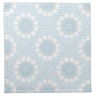 Blue Polka Dot/Circles Cloth Napkins