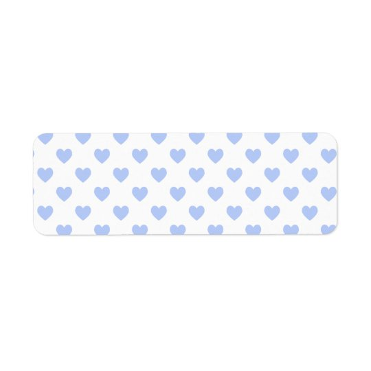 Blue Polka Dot Hearts Return Address Label