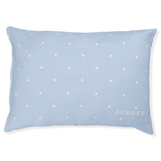 Blue Polka Dot Indoor Dog Bed Medium Personalized
