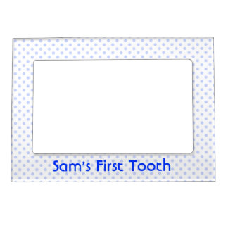 Blue Polka Dot Magnetic Frame