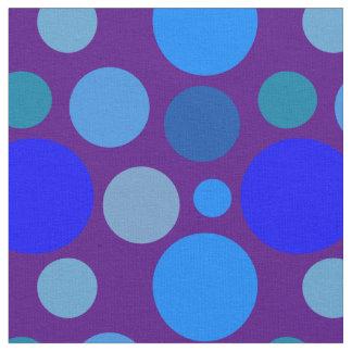 Blue polka dot pattern fabric