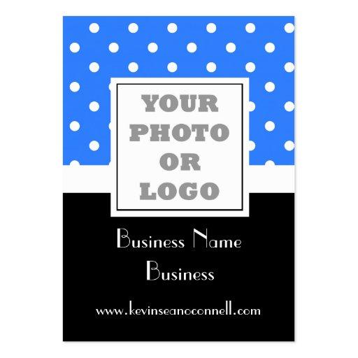 Blue polka dot  photo logo business card templates