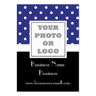 Blue polka dot  photo logo pack of chubby business cards