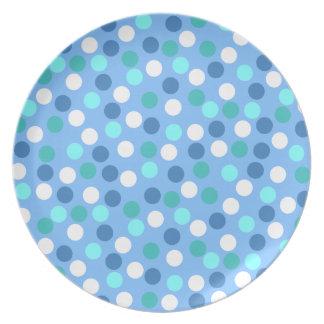 Blue Polka Dot Plate
