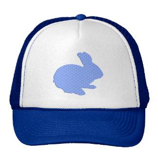 Blue Polka Dot Silhouette Easter Bunny Hat