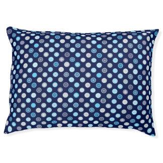 Blue Polka Dot Winter Pattern Dog Bed