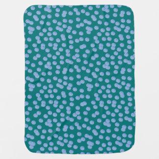 Blue Polka Dots Baby Blanket