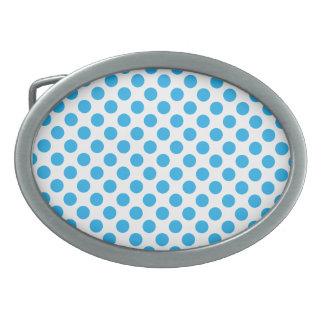 Blue Polka Dots Belt Buckle