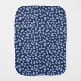 Blue Polka Dots Burp Cloth