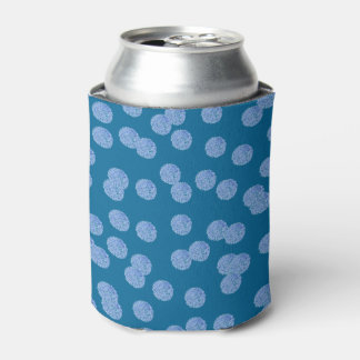 Blue Polka Dots Can Cooler