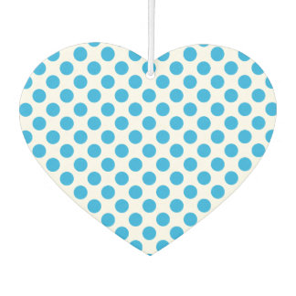 Blue Polka Dots Car Air Freshener