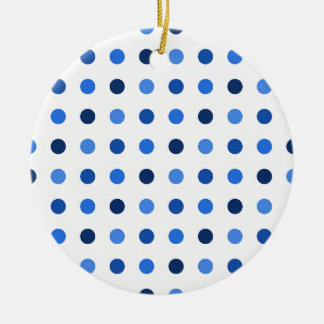 Blue Polka-dots Ceramic Ornament