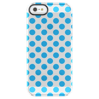 Blue Polka Dots Clear iPhone SE/5/5s Case