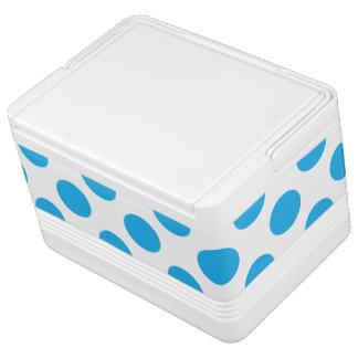 Blue Polka Dots Cooler