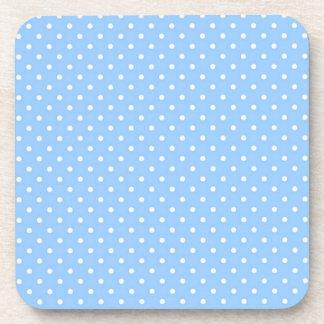 Blue Polka Dots Beverage Coasters