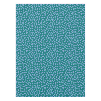 Blue Polka Dots Cotton Tablecloth 52'' x 70''