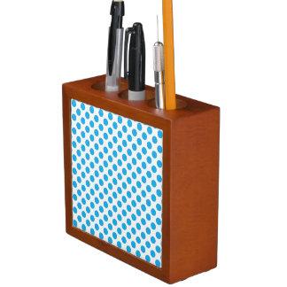 Blue Polka Dots Desk Organiser