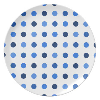 Blue Polka-dots Dinner Plate