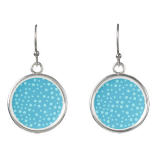 Blue Polka Dots Earrings