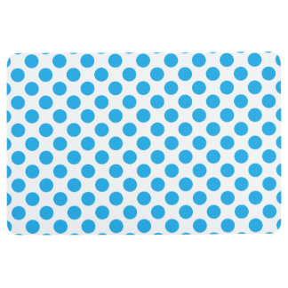 Blue Polka Dots Floor Mat