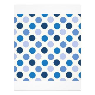 Blue Polka Dots Custom Flyer