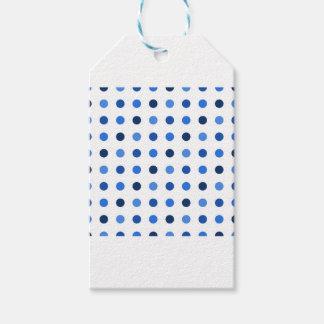 Blue polka dots gift tags