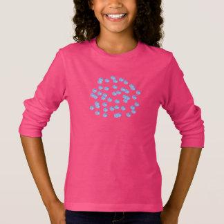 Blue Polka Dots Girls' Basic Long Sleeve T-Shirt
