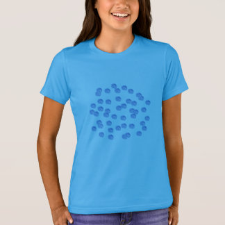 Blue Polka Dots Girls' Crew T-Shirt