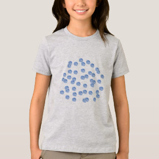 Blue Polka Dots Girls' Fine Jersey T-Shirt