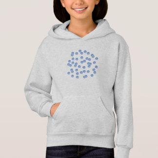 Blue Polka Dots Girls' Hoodie