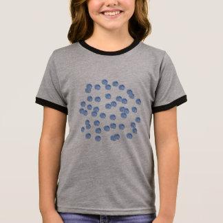 Blue Polka Dots Girls' Ringer T-Shirt