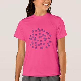 Blue Polka Dots Girls' Sports T-Shirt