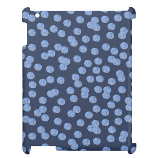 Blue Polka Dots Glossy iPad Case