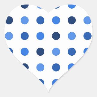 Blue Polka-dots Heart Sticker