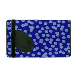 Blue Polka Dots iPad 2/3/4 Case with Kickstand