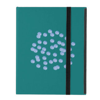 Blue Polka Dots iPad 2/3/4 Case with No Kickstand