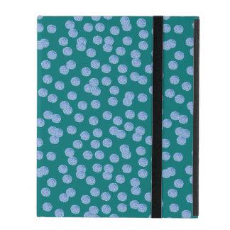 Blue Polka Dots iPad 2/3/4 Case with No Kickstand