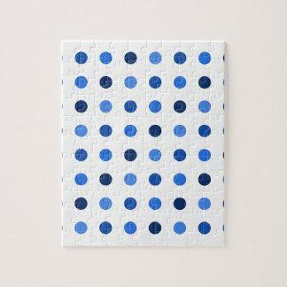 Blue polka dots jigsaw puzzle